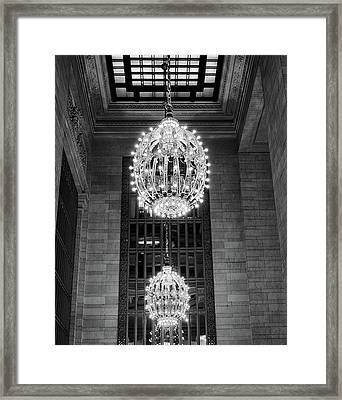 Framed Print featuring the photograph Lamps In Grand Central Station by Lora Lee Chapman