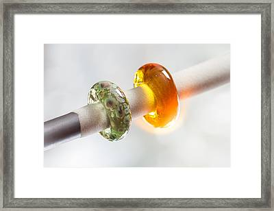 Lampwork Glass Beads Framed Print