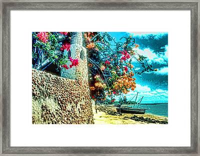 Lamu Beach Framed Print