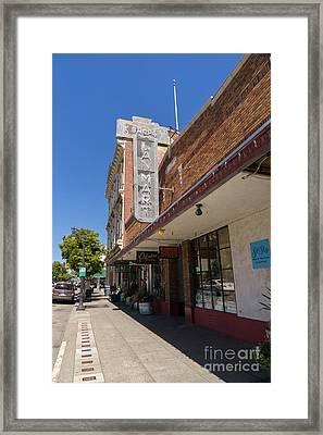 Lan Mart Building In Petaluma California Usa Dsc3770 Framed Print