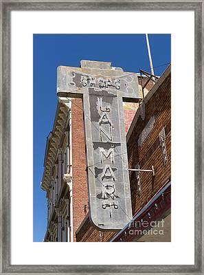 Lan Mart Building In Petaluma California Usa Dsc3772 Framed Print by Wingsdomain Art and Photography