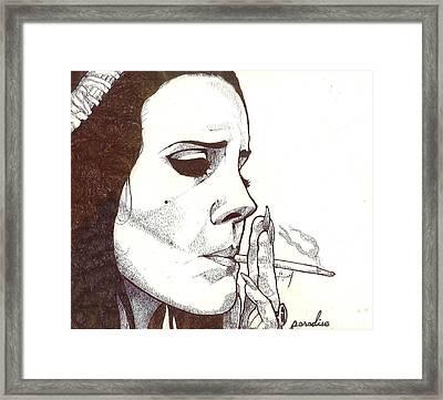 Lana Del Rey Framed Print by Avijit Singh