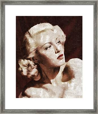 Lana Turner By Mary Bassett Framed Print