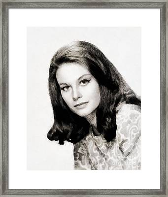 Lana Wood, Vintage Actress Framed Print