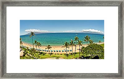 Lanai And Molokai Framed Print by Jim Chamberlain
