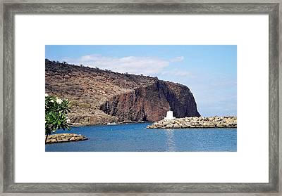 Lanai Harbor Framed Print