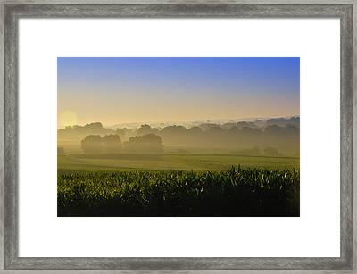 Lancaster County Sunrise Framed Print by Bill Cannon