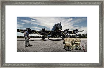 Framed Print featuring the photograph Lancaster Engine Test by Brad Allen Fine Art