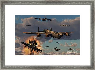 Lancaster Heavy Bombers Of The Royal Framed Print by Mark Stevenson