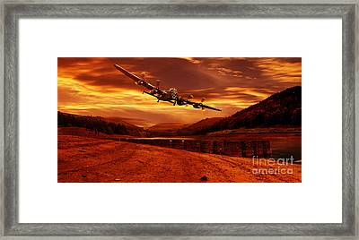 Lancaster Over Ouzelden Framed Print by Nigel Hatton