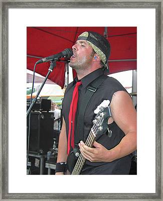 Lance Romance On Bass Framed Print
