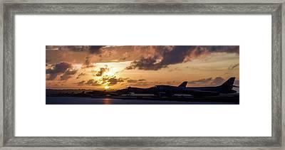 Lancer Flightline Framed Print by Peter Chilelli