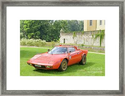 Lancia Stratos Hf Classic 1970s Rally Car Framed Print