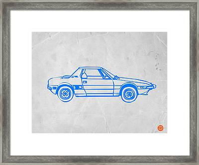 Lancia Stratos Framed Print by Naxart Studio