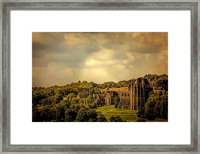 Framed Print featuring the photograph Lancing College by Chris Lord