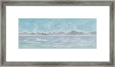Framed Print featuring the painting Land Ahoy Cruising By Cuba by Pat Katz
