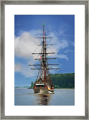Land Ahoy Framed Print by John Christopher