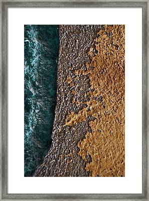 Land And Sea With Yellow Forest Framed Print by Tommaso Leto