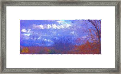 Land And Sky Scape Painting Framed Print