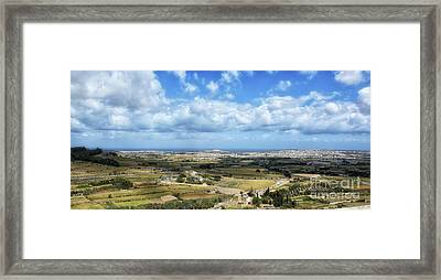 Land And Sky Framed Print by Stephan Grixti
