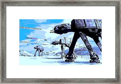 Land Battle Framed Print by George Pedro