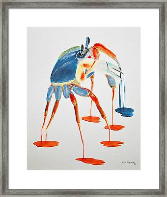 Land Crab Fight Stance Framed Print