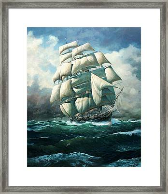 'land Ho' Cutty Sark Framed Print by Colin Parker
