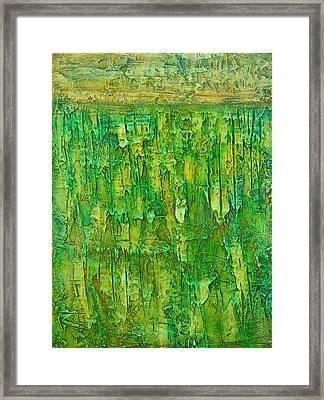Land In Green Framed Print