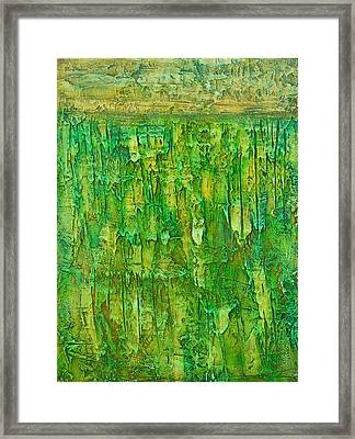 Land In Green Framed Print by Habib Ayat