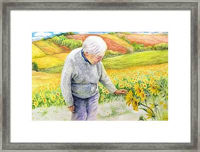 Framed Print featuring the painting Land  Life And Grace by Ping Yan