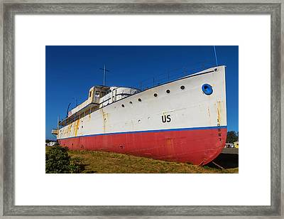 Land Locked Cruise Ship Framed Print by Garry Gay