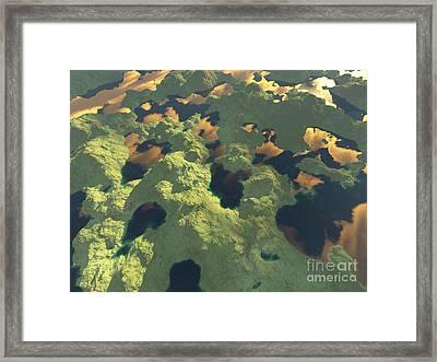Land Of A Thousand Lakes II Framed Print by Gaspar Avila