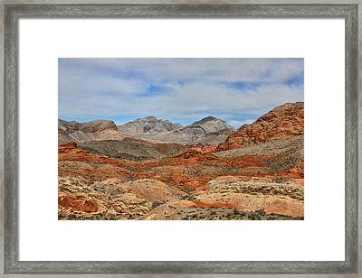 Framed Print featuring the photograph Land Of Fire by Tammy Espino