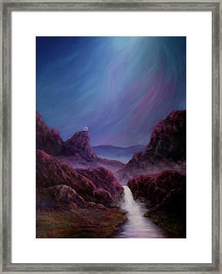 Land Of Glowing Waters Framed Print by Vicki Van Vynckt
