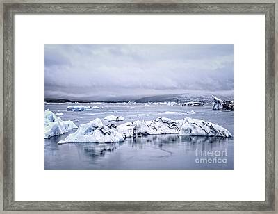 Land Of Ice Framed Print by Evelina Kremsdorf
