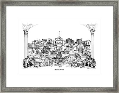 Land Of Lincoln Framed Print by Dennis Bivens