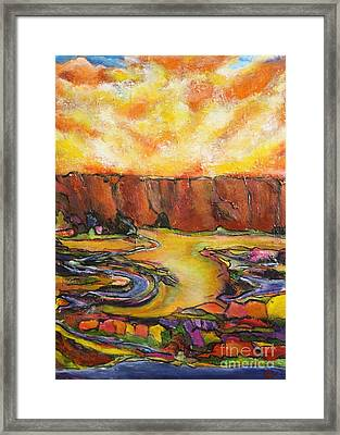 Land Of Silence Framed Print by Chaline Ouellet