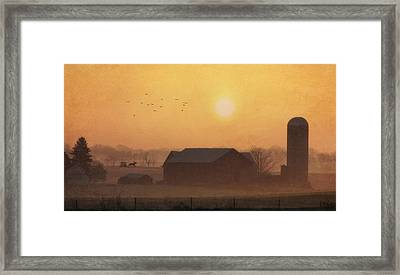Land Of The Amish Framed Print by Lori Deiter