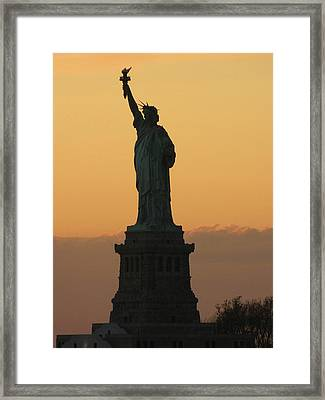 Land Of The Free And The Brave Framed Print