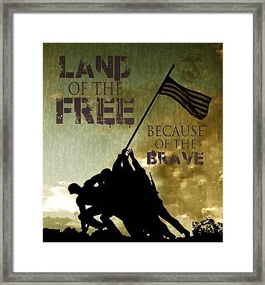Land Of The Free Framed Print by Dawn Romine