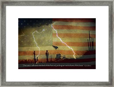 Land Of The Free - Home Of The Brave  Framed Print by James BO  Insogna