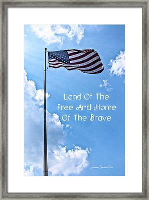 Land Of The Free Framed Print by Joann Copeland-Paul