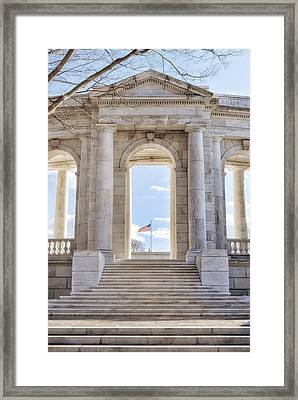 Land Of The Free Framed Print by Krysten Kamps