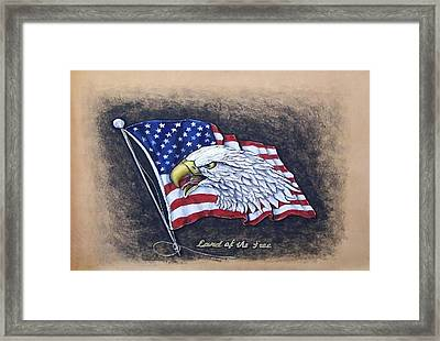 Land Of The Free Framed Print by Lilly King