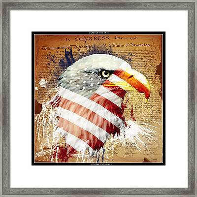 Land Of The Free Framed Print by Robert  Adelman