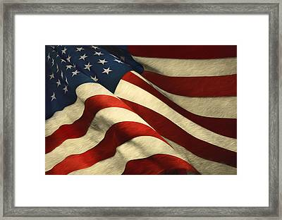 Land Of The Free Framed Print by Steven Michael
