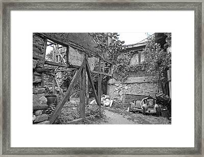 Land Of The Lost Framed Print by Angela Siener