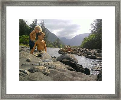 Land Of The Lost Framed Print by Charles  Jennison