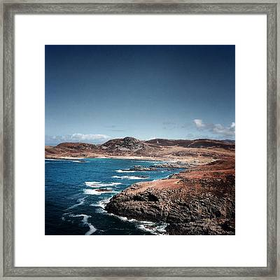Land On The Edge Of The World - Ardnamurchan #5 Framed Print by Kate Morton