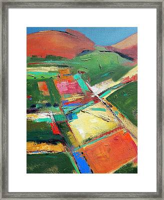 Land Patches Framed Print